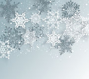Silver winter abstract Christmas Background. Stock Image