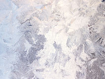 Silver winter background with frost pattern Royalty Free Stock Image