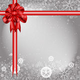 Silver winter Christmas background with snowflakes. Christmas vector background on gray Stock Photography
