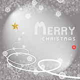 Silver winter Christmas background with snowflakes. Christmas vector background on gray Royalty Free Stock Photo