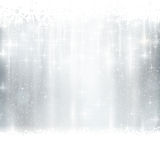 Silver Winter, Christmas Background With Light Effects Royalty Free Stock Photography