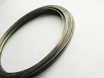 Silver wire Stock Photography