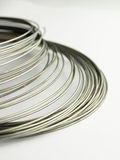 Silver wire. Its looks like a pimple Stock Image