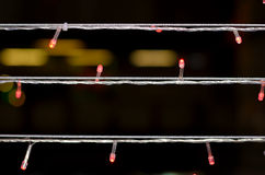 Silver wire. Led red bulb and silver wire Royalty Free Stock Images