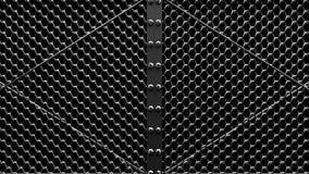 Silver Wire Mesh Gates stock video