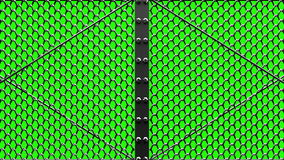 Silver Wire Mesh Gates stock video footage
