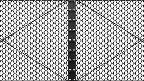 Silver Wire Mesh Gates stock footage