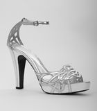 Silver women sandal Stock Photo