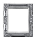 Silver wood sculpture picture frame Stock Photo