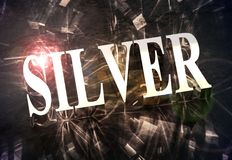 `SILVER` word with caustic light royalty free stock images