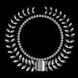 Silver wreath (vector) Stock Image