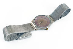 Silver wrist watch Stock Image