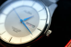 Silver wrist watch Stock Images