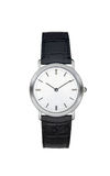 Silver wrist watch isolated with clipping path Royalty Free Stock Image