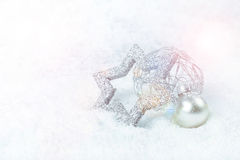 Silver xmas decoration Stock Image