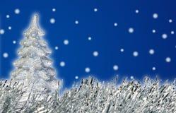 Silver xmas tree Stock Image