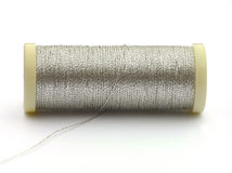Silver yarn Stock Photo