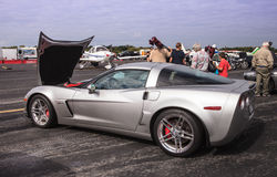Silver Z5 Corvette Car Royalty Free Stock Photography