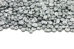 Silver zinc granules Royalty Free Stock Image