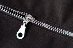 Silver zipper Royalty Free Stock Image