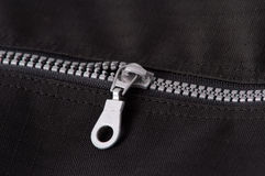 Silver zipper Royalty Free Stock Photography