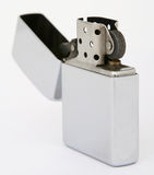 Silver Zippo Lighter Royalty Free Stock Photography