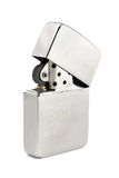 Silver Zippo Lighter On A White Background Royalty Free Stock Photos