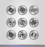 Silveraffärssymboler Arkivbild
