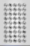 Silveraffärssymboler Arkivfoto