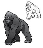 Silverback Gorilla Illustration Stock Images