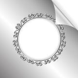 Silverbakgrund Arkivfoto