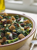 Silverbeets Sultanas and Pine Nuts.  Stock Photos