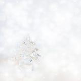 Silverchrismasbakgrund Arkivfoton