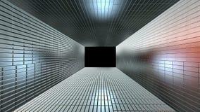 SilverChrome tunnel som göras från guld- stänger som in zoomar vektor illustrationer