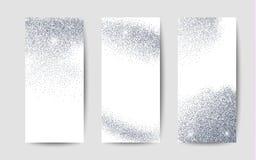 Silverdamm på vit bakgrund Silver blänker bakgrund Royaltyfri Bild