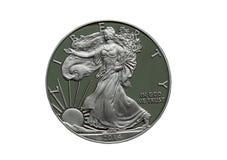 Silverdollar för 2014 motståndskraftiga Amerikas förenta stater Arkivfoto