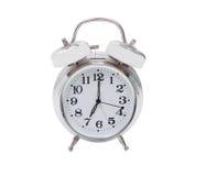 Silvered alarm clock Royalty Free Stock Photos