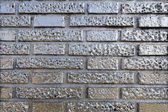 Silvered Brick Wall Stock Photos