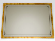Silvered plaque Stock Images