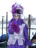 Silvered violet in Venice Royalty Free Stock Photography