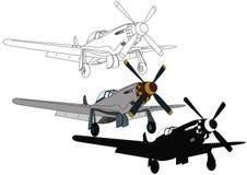 Silverflygplan med en propeller Royaltyfria Foton