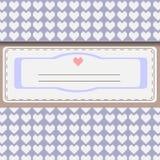 Silverhälsningkort vektor illustrationer