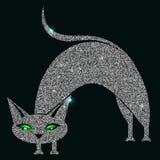 Silverkatt med gröna ögon Royaltyfria Bilder