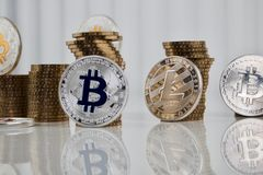 SilverLitecoin mynt Royaltyfria Bilder