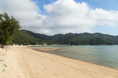 Silvermine在大屿山的海湾海滩在香港 图库摄影