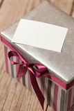 Silvern gift box Royalty Free Stock Photography