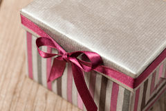 Silvern gift box Stock Photo