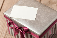 Silvern gift box Stock Photography