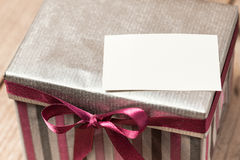 Silvern gift box Royalty Free Stock Images