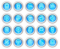 Silvero glatte Ikone eingestellt: Drahtlose Kommunikation Stockfoto